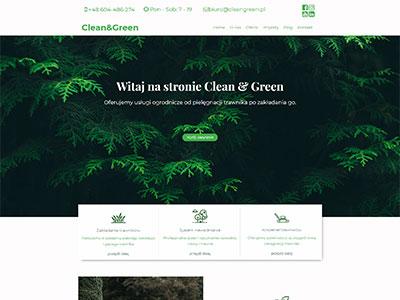 Strona www firmy Clean&Green