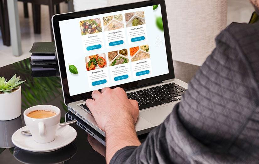 Projekt nowoczesnej strony internetowej dla firm cateringowej