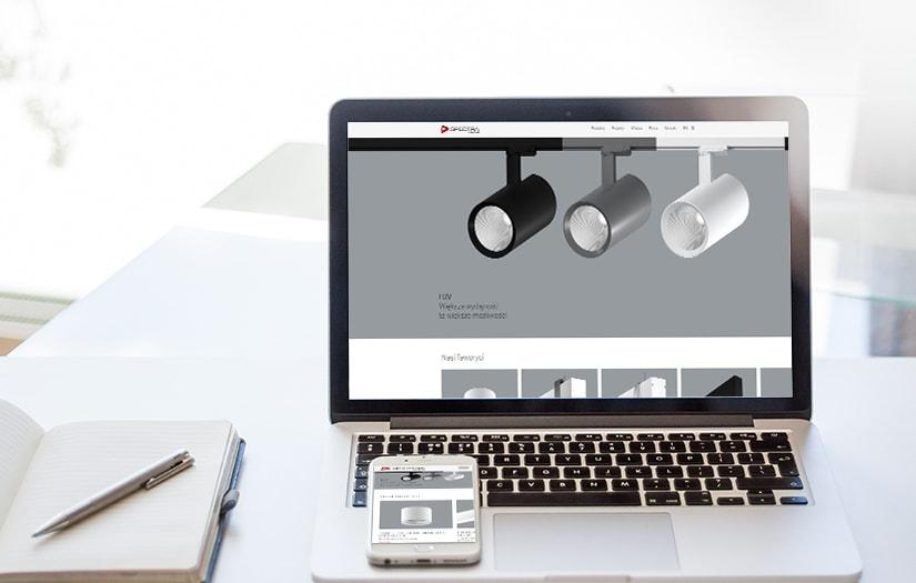 Wdrożenie strony internetowej dla leadera z branży oświetleniowej