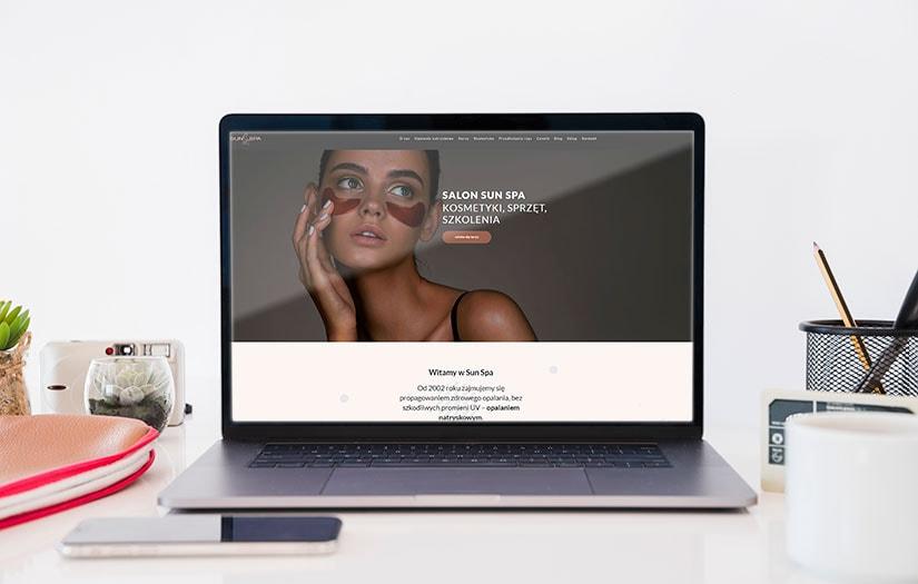 Strona internetowa salonu spa