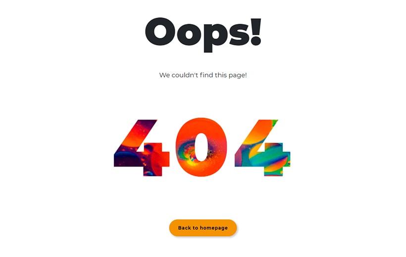 Szablon www, strona błędu 404 error